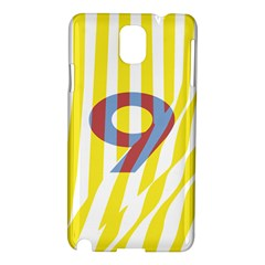 Number 9 Line Vertical Yellow Red Blue White Wae Chevron Samsung Galaxy Note 3 N9005 Hardshell Case