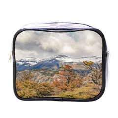 Forest And Snowy Mountains, Patagonia, Argentina Mini Toiletries Bags
