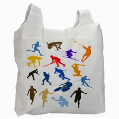 Sport Player Playing Recycle Bag (one Side)