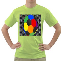 Team Soccer Coming Out Tease Ball Color Rainbow Sport Green T-Shirt