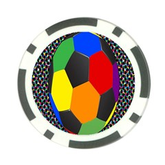 Team Soccer Coming Out Tease Ball Color Rainbow Sport Poker Chip Card Guard