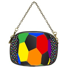 Team Soccer Coming Out Tease Ball Color Rainbow Sport Chain Purses (two Sides)
