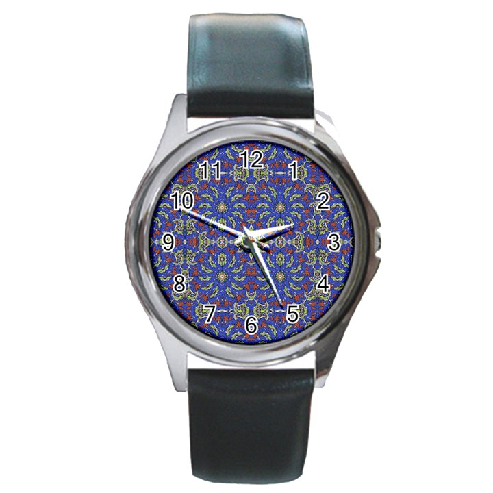 Colorful Ethnic Design Round Metal Watch