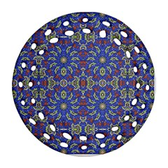 Colorful Ethnic Design Round Filigree Ornament (two Sides)