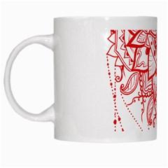 Mandala Pretty Design Pattern White Mugs