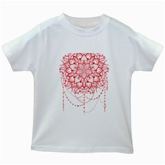 Mandala Pretty Design Pattern Kids White T-Shirts