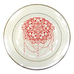 Mandala Pretty Design Pattern Porcelain Plates