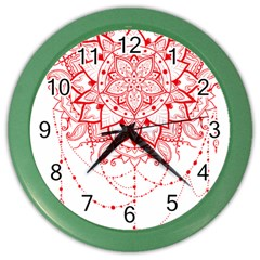 Mandala Pretty Design Pattern Color Wall Clocks