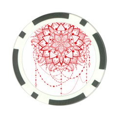 Mandala Pretty Design Pattern Poker Chip Card Guard (10 pack)