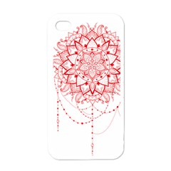 Mandala Pretty Design Pattern Apple Iphone 4 Case (white)