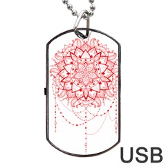 Mandala Pretty Design Pattern Dog Tag USB Flash (One Side)