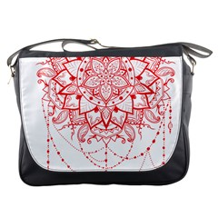Mandala Pretty Design Pattern Messenger Bags