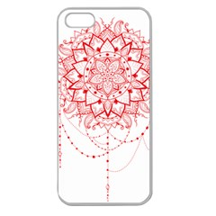 Mandala Pretty Design Pattern Apple Seamless Iphone 5 Case (clear)