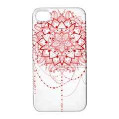 Mandala Pretty Design Pattern Apple iPhone 4/4S Hardshell Case with Stand