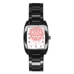 Mandala Pretty Design Pattern Stainless Steel Barrel Watch