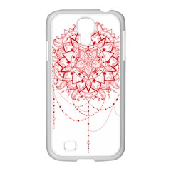 Mandala Pretty Design Pattern Samsung Galaxy S4 I9500/ I9505 Case (white)
