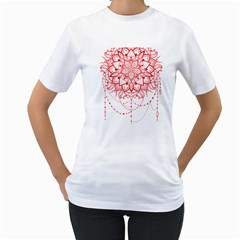 Mandala Pretty Design Pattern Women s T Shirt (white)