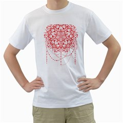 Mandala Pretty Design Pattern Men s T-Shirt (White)