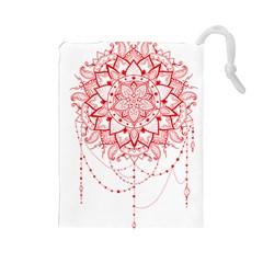 Mandala Pretty Design Pattern Drawstring Pouches (large)