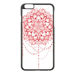 Mandala Pretty Design Pattern Apple Iphone 6 Plus/6s Plus Black Enamel Case