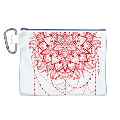 Mandala Pretty Design Pattern Canvas Cosmetic Bag (l)