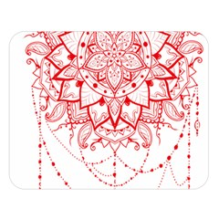 Mandala Pretty Design Pattern Double Sided Flano Blanket (large)