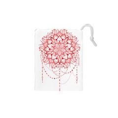 Mandala Pretty Design Pattern Drawstring Pouches (xs)