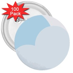 Cloud Sky Blue Decorative Symbol 3  Buttons (100 Pack)