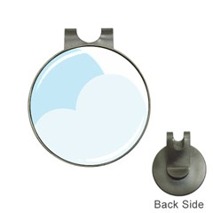 Cloud Sky Blue Decorative Symbol Hat Clips With Golf Markers