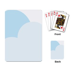 Cloud Sky Blue Decorative Symbol Playing Card