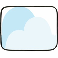 Cloud Sky Blue Decorative Symbol Fleece Blanket (Mini)