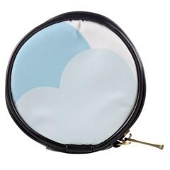 Cloud Sky Blue Decorative Symbol Mini Makeup Bags