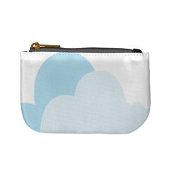 Cloud Sky Blue Decorative Symbol Mini Coin Purses