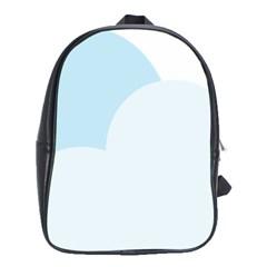 Cloud Sky Blue Decorative Symbol School Bags (xl)