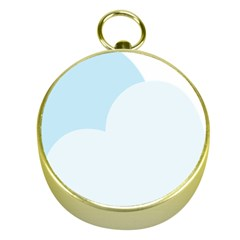 Cloud Sky Blue Decorative Symbol Gold Compasses