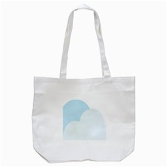 Cloud Sky Blue Decorative Symbol Tote Bag (white)