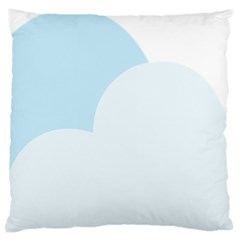 Cloud Sky Blue Decorative Symbol Standard Flano Cushion Case (two Sides)