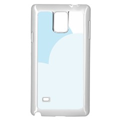 Cloud Sky Blue Decorative Symbol Samsung Galaxy Note 4 Case (White)