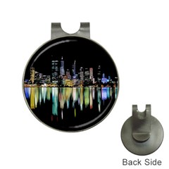 City Panorama Hat Clips With Golf Markers