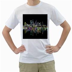 City Panorama Men s T Shirt (white)