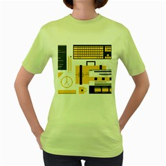Web Design Mockup Web Developer Women s Green T-Shirt