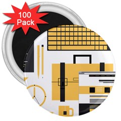 Web Design Mockup Web Developer 3  Magnets (100 Pack)