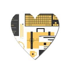 Web Design Mockup Web Developer Heart Magnet