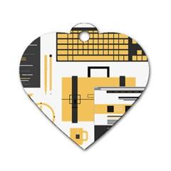 Web Design Mockup Web Developer Dog Tag Heart (one Side)