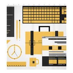 Web Design Mockup Web Developer Shower Curtain 66  x 72  (Large)