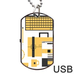 Web Design Mockup Web Developer Dog Tag USB Flash (One Side)