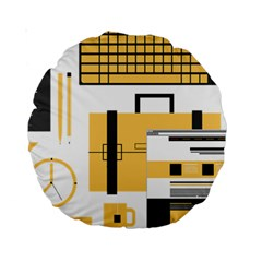 Web Design Mockup Web Developer Standard 15  Premium Round Cushions