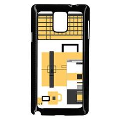 Web Design Mockup Web Developer Samsung Galaxy Note 4 Case (black)