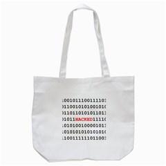 Binary Black Cyber Data Digits Tote Bag (white)