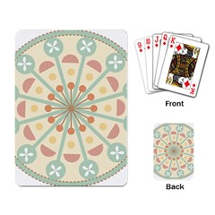 Blue Circle Ornaments Playing Card